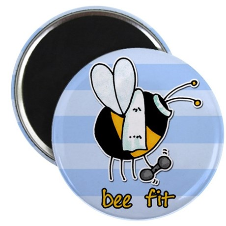 """bee fit (striped) 2.25"""" Magnet (100 pack)"""