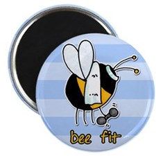 "bee fit (striped) 2.25"" Magnet (10 pack)"
