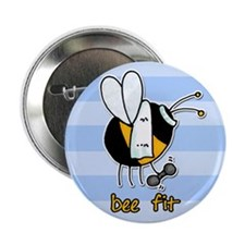 """bee fit (striped) 2.25"""" Button (10 pack)"""