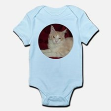 'Pink' Maine Coon Cat Comfy Infant Creeper
