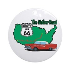 Mother Road Classic Car Ornament (Round)
