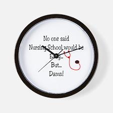Student Nurse IV Wall Clock