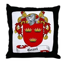 Grant Family Crest Throw Pillow
