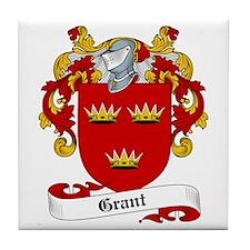 Grant Family Crest Tile Coaster