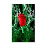 One Red Rose Rectangle Sticker 10 pk)