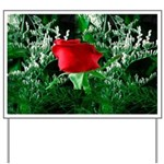 One Red Rose Yard Sign