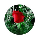 One Red Rose Ornament (Round)