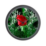 One Red Rose Wall Clock