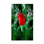 One Red Rose Rectangle Sticker