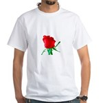 One Red Rose White T-Shirt