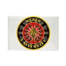 Weber Family Name University Rectangle Magnet
