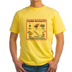 Zombie Survival Kit Yellow T-Shirt