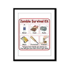 Zombie Survival Kit Framed Panel Print