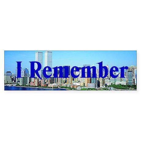 I Remember Bumper Sticker