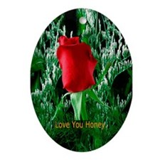 Valentines Day Gift Oval Ornament
