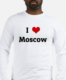 I Love Moscow Long Sleeve T-Shirt