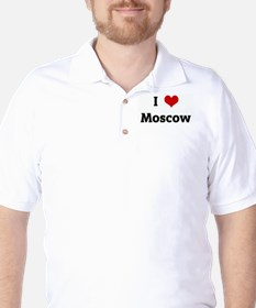 I Love Moscow Golf Shirt