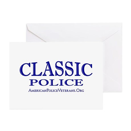 Classic Police Greeting Cards (Pk of 10)