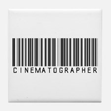 Cinematographer Barcode Tile Coaster