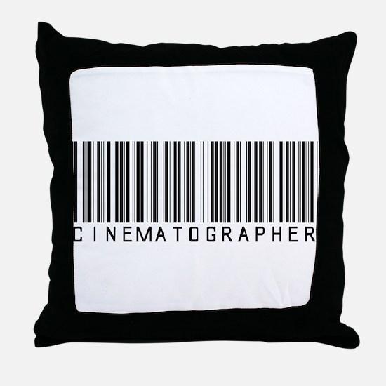 Cinematographer Barcode Throw Pillow