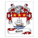 Gunn Family Crest Small Poster