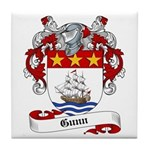 Gunn Family Crest Tile Coaster
