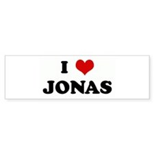 I Love JONAS Bumper Bumper Sticker