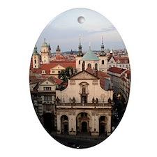Prague, Czech Republic Oval Ornament