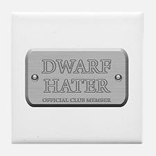 Brushed Steel - Dwarf Hater Tile Coaster