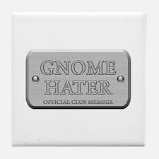 Brushed Steel - Gnome Hater Tile Coaster