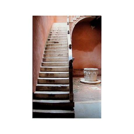 """Venetia Courtyard"" Rectangle Magnet (100 pack)"