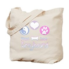 Greyhound Peace(blue) Tote Bag