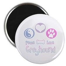 Greyhound Peace(blue) Magnet