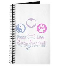 Greyhound Peace(blue) Journal