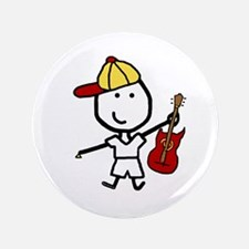 "Boy & Electric Guitar 3.5"" Button"