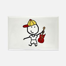 Boy & Electric Guitar Rectangle Magnet