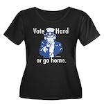 Pro Voting Women's Plus Size Scoop Neck Dark T-Shi