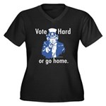 Pro Voting Women's Plus Size V-Neck Dark T-Shirt