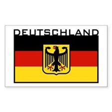 Deutschland Flag Rectangle Decal