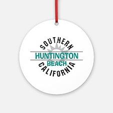 Huntington Beach California Ornament (Round)