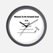 Pyramid Scam Wall Clock