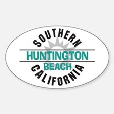 Huntington Beach California Oval Decal