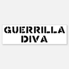 Guerrilla Diva Bumper Bumper Bumper Sticker