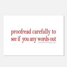 Proofread carefully Postcards (Package of 8)