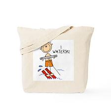 I Waterski Tote Bag