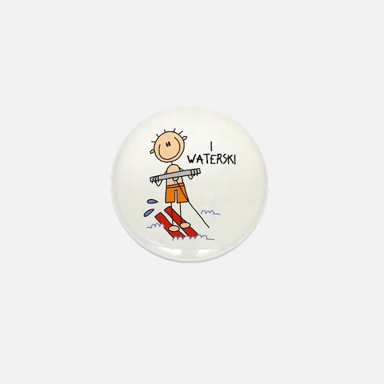 I Waterski Mini Button