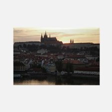 Prague Castle at Sunset Rectangle Magnet