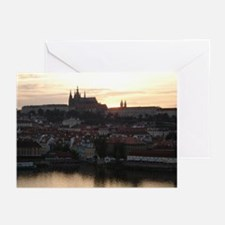 Prague Castle at Sunset Greeting Cards (Pk of 20)
