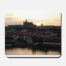 Prague Castle at Sunset Mousepad