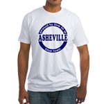 Asheville: Blue Town Fitted T-Shirt